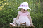 Stella Sun Hat with Mini Rose Crown