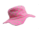 Candy Pink Dot Sun Hat