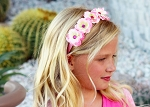 Pink Mini Rose Flower Crown
