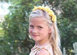Yellow Mini Rose Flower Crown