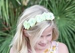 Green Mini Rose Flower Crown