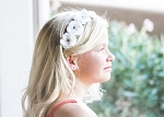 White Mini Rose Flower Crown