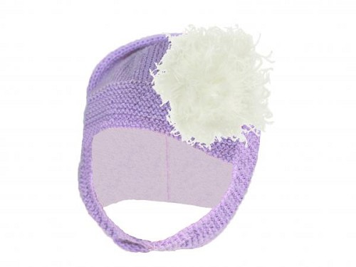 Lavender Blossom Bonnet with Cream Large Curly Marabou
