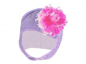 Lavender Blossom Bonnet with Pink Raspberry Large Curly Marabou