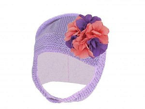 Lavender Blossom Bonnet with Purple Pink Large Geraniums