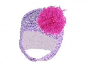 Lavender Blossom Bonnet with Raspberry Large Curly Marabou