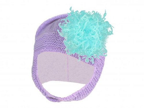 Lavender Blossom Bonnet with Teal Large Curly Marabou
