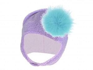 Lavender Blossom Bonnet with Teal Large regular Marabou