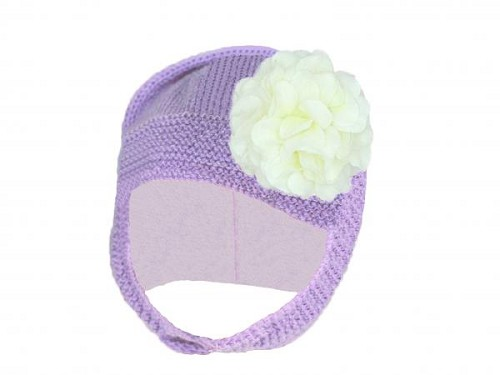 Lavender Blossom Bonnet with White Large Geraniums