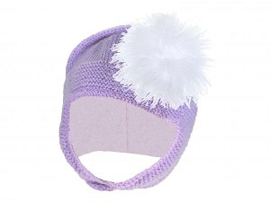 Lavender Blossom Bonnet with White Large regular Marabou