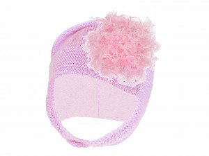 Pale Pink Blossom Bonnet with Candy Pink Large Curly Marabou