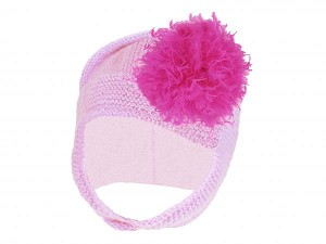 Pale Pink Blossom Bonnet with Raspberry Large Curly Marabou