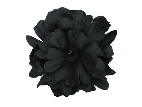 Black Bloom with Black Small Peony