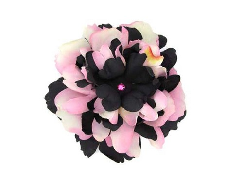 Black Bloom with Pink Black Small Peony