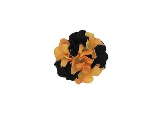 Black Orange Bloom with Large Geraniums