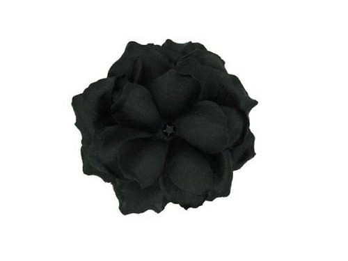 Black Bloom with Small Rose