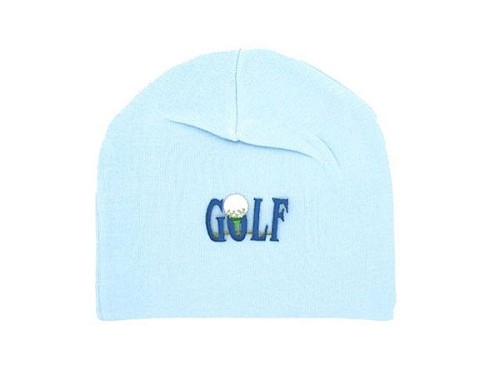 Baby Blue Applique Hat with Baby Blue Golfball