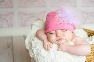 Candy Pink Cotton Hat with Lavender Large regular Marabou