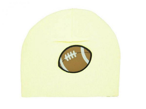 Cream Applique Hat with Brown Football