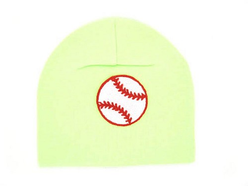 Light Aloe Applique Hat with Baseball