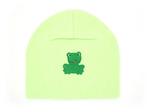 Light Aloe Applique Hat with Frog