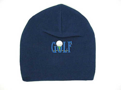 Navy Blue Applique Hat with Golfball
