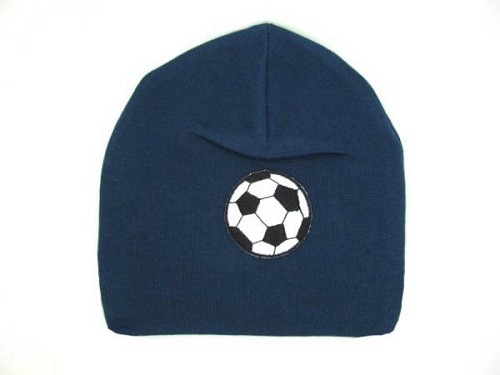 Navy Blue Applique Hat with Soccer Ball
