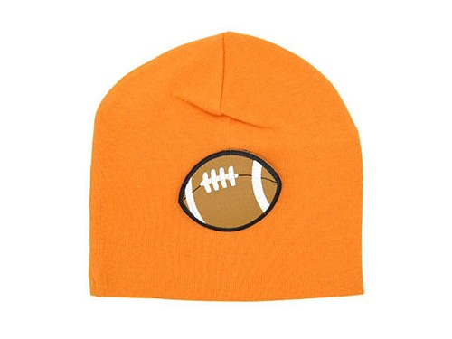 Orange Applique Hat with Football