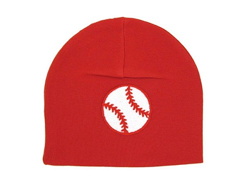 Red Applique Hat with Baseball