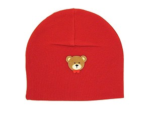 Red Applique Hat with Bear