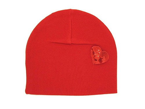 Red Applique Hat with Heart