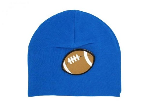 Royal Blue Applique Hat with Football