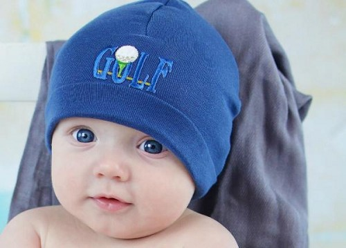 Royal Blue Applique Hat with Golfball