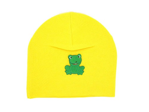 Yellow Applique Hat with Frog