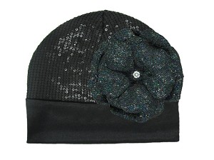 Black Couture with Sequins Black Rose