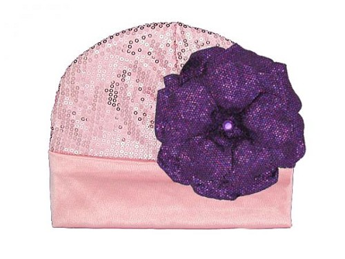 Candy Pink Couture with Sequins Purple Rose
