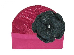 Raspberry Couture with Sequins Black Rose