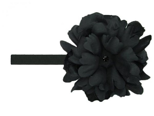 Black Flowerette Burst with Black Small Peony
