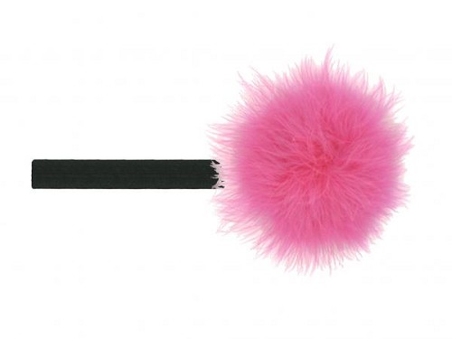 Black Flowerette Burst with Candy Pink Small Regular Marabou