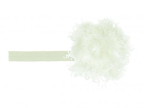 Cream Flowerette Burst with Cream Small Curly Marabou