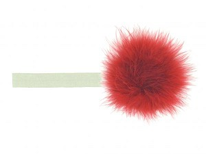 Cream Flowerette Burst with Red Small Regular Marabou