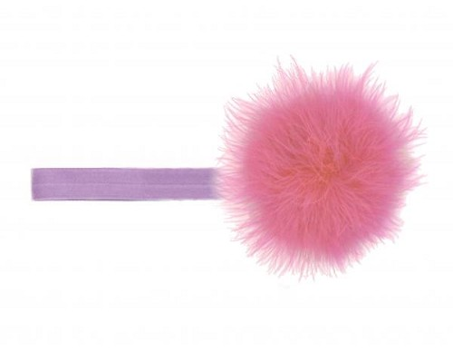 Lavender Flowerette Burst with Candy Pink Small Regular Marabou