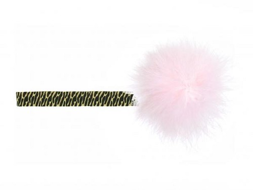 Leopard Flowerette Burst with Pale Pink Small Regular Marabou