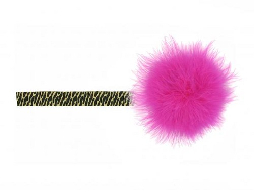 Leopard Flowerette Burst with Raspberry Small Regular Marabou