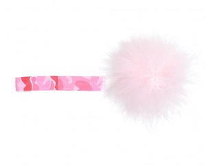 Pink Camouflage Flowerette Burst with Pale Pink Small Regular Marabou