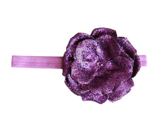 Purple Flowerette Burst with Sequins Purple Rose