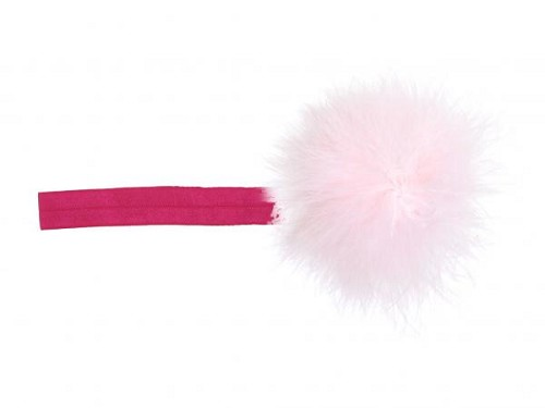Raspberry Flowerette Burst with Pale Pink Small Regular Marabou