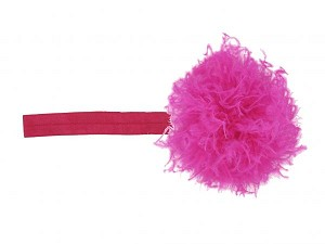Raspberry Flowerette Burst with Raspberry Small Curly Marabou
