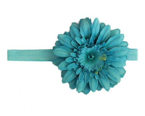 Teal Flowerette Burst with Teal Daisy
