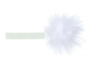White Flowerette Burst with White Small Regular Marabou